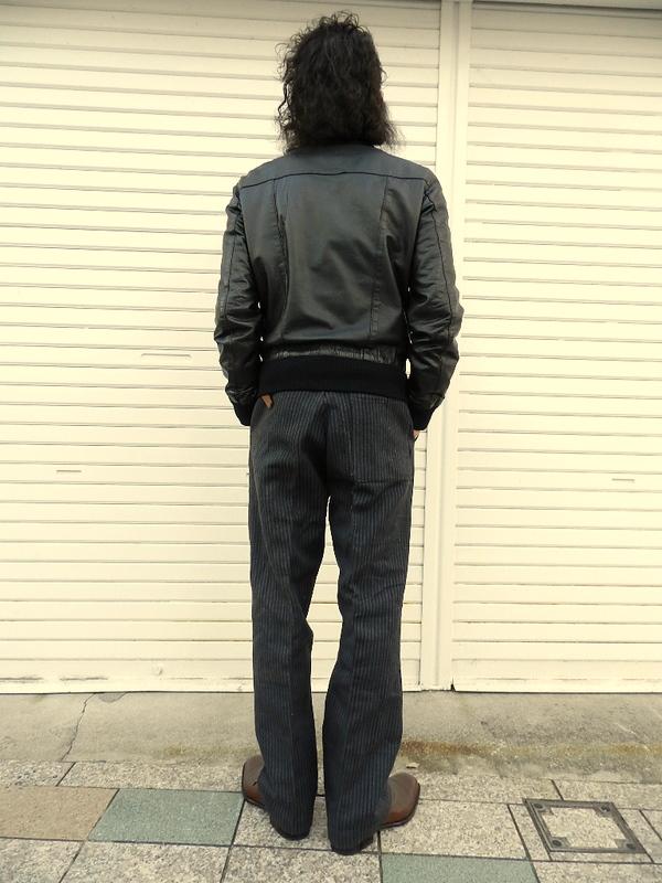 French vintage stripe&gray cotton pants snaps_f0226051_22315754.jpg