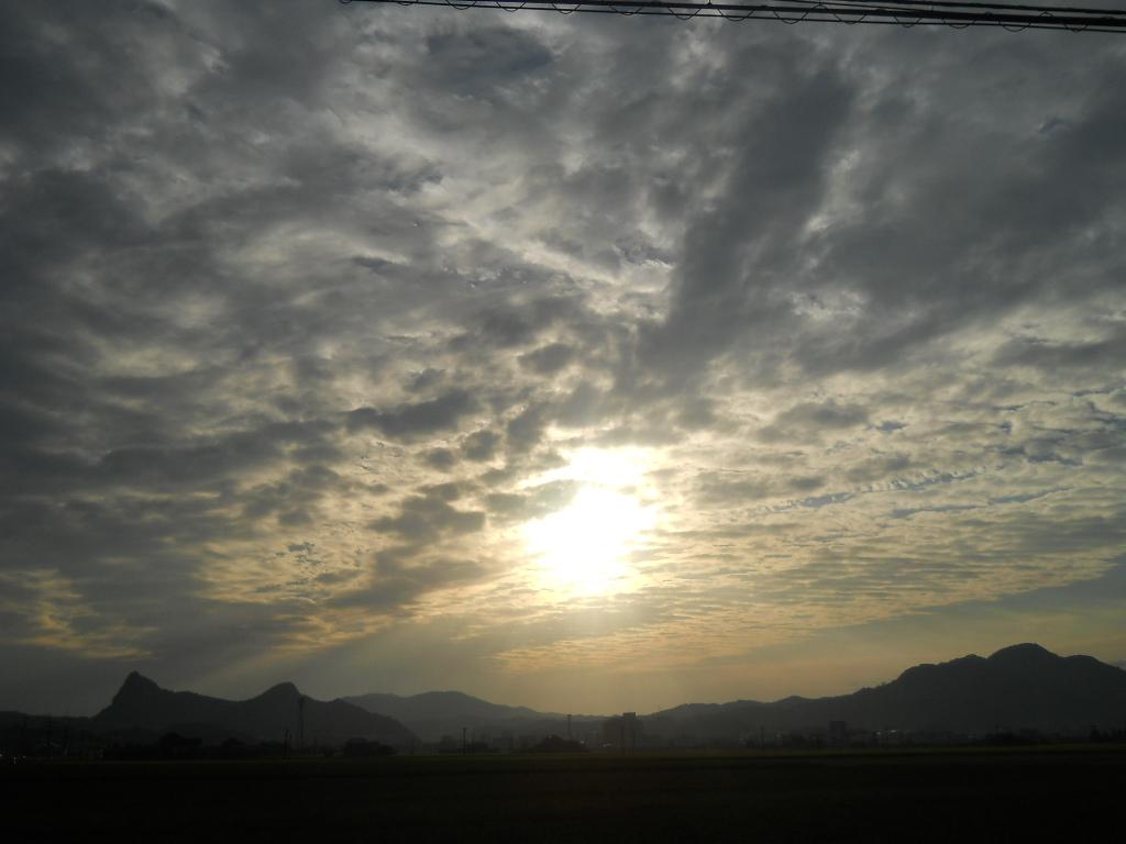 鳴瀬より~秋の夕暮れ (御船山)_f0146802_8575641.jpg