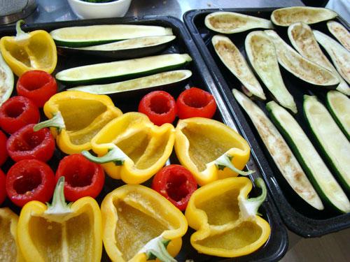 肉詰めの野菜&レモンケーキ_a0063103_21153118.jpg