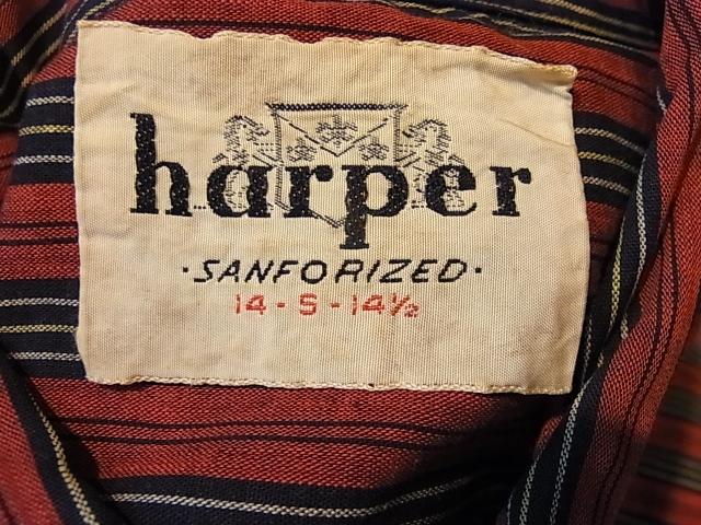 10/27(土)入荷!60'S harper ストライプ B.Dシャツ!_c0144020_14522134.jpg