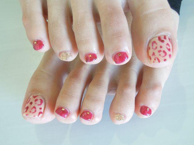 Leopard Foot Nail_a0239065_15115143.jpg