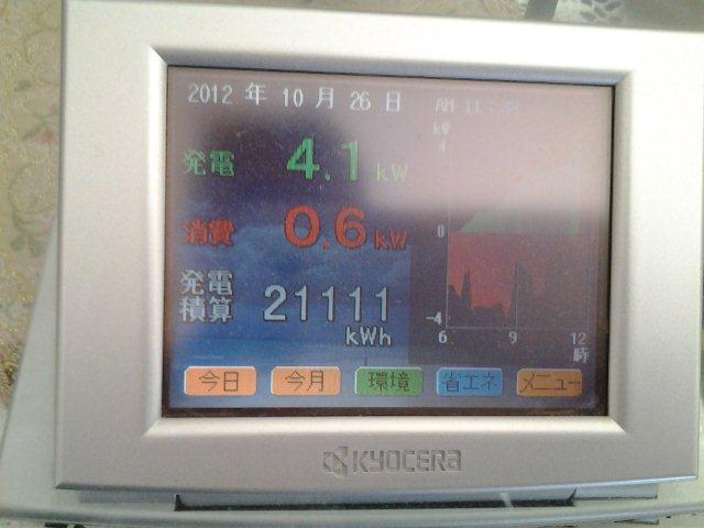 京セラ太陽光発電5.49kwを 3年前に設置したお客様_e0207151_124831.jpg