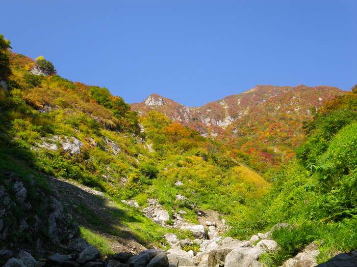 紅葉の朝日連峰祝瓶山コカクナラ沢 ~ 2012年10月22日_f0170180_364829.jpg
