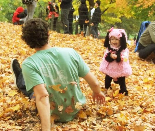 NYのセントラルパークの落ち葉のじゅうたん_b0007805_1333713.jpg