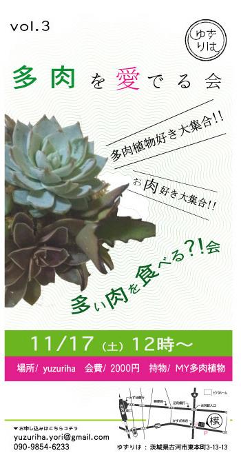 11/17  (土) 多肉を愛でる会 vol.3_c0217045_9443055.jpg