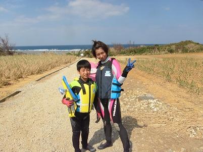 ビーチでシュノーケルを楽しみました☆_a0156273_13473528.jpg