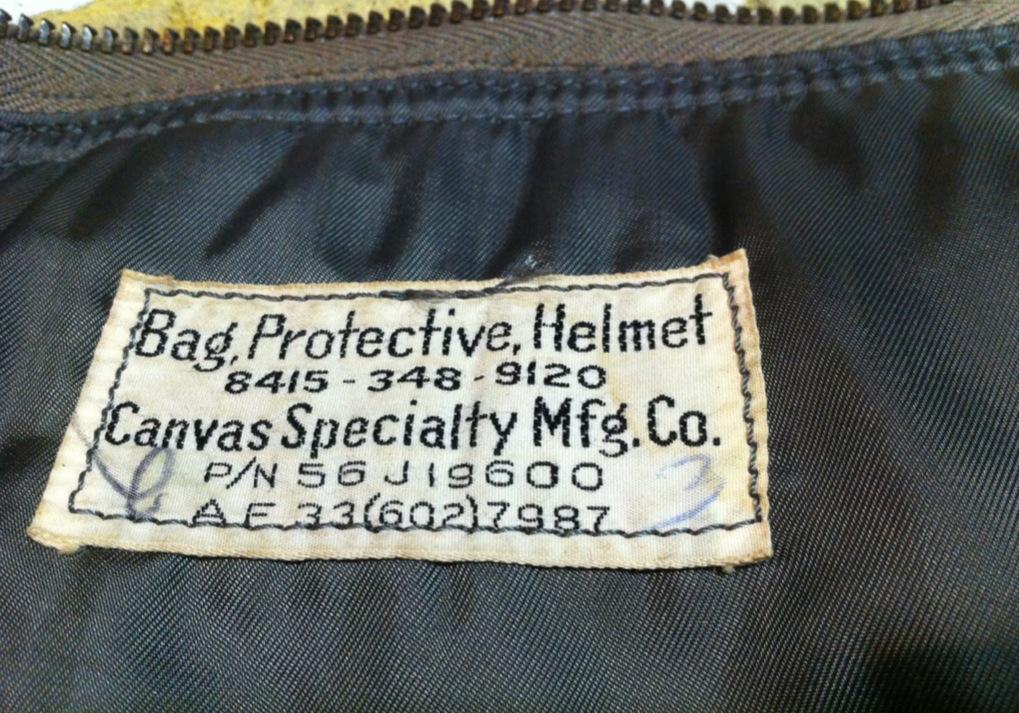 神戸店10/31(水)ヴィンテージ入荷!#6 USAFヘルメットバッグ1st 、B-11 (T.W.神戸店)_c0078587_194820100.jpg