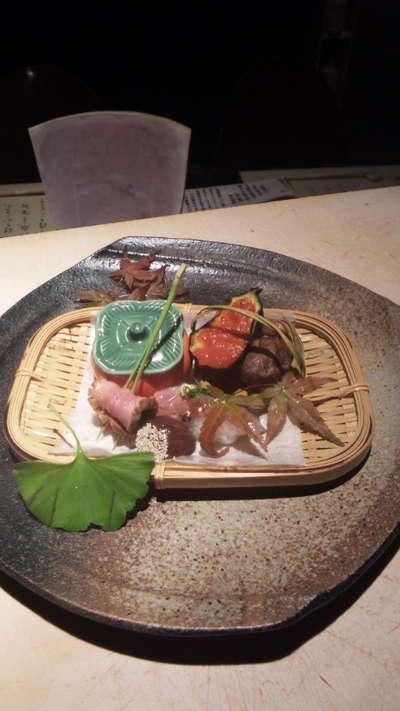 大阪店「おくどさん小柴」の秋の前菜_d0135908_14192218.jpg