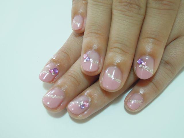 Autumn Pink Nail_a0239065_17203057.jpg