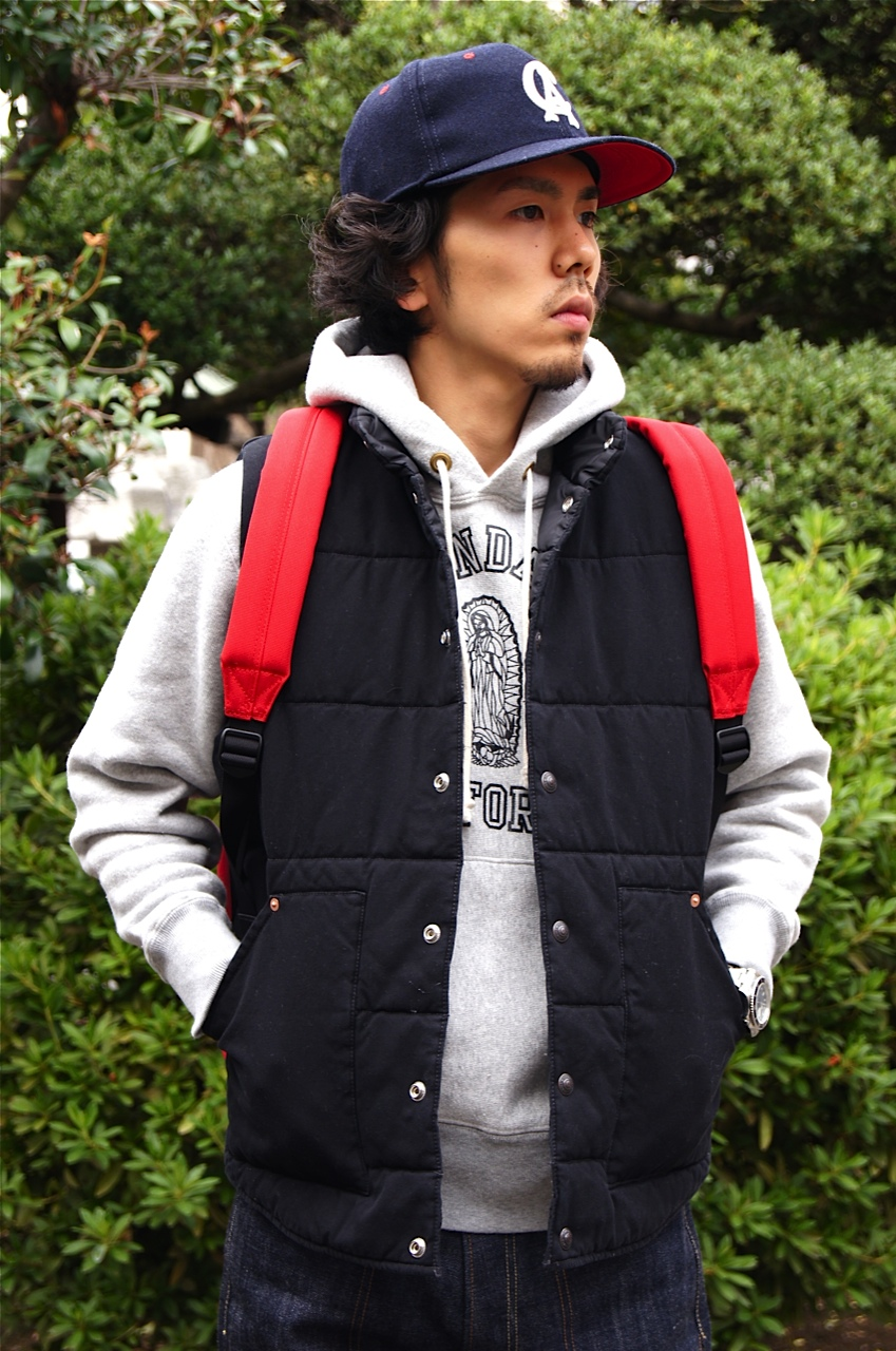 """STANDARD CALIFORNIA\"" CANVAS QUILTED VEST!!_f0020773_21134619.jpg"