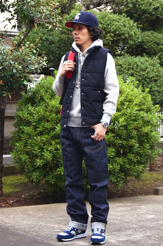 """STANDARD CALIFORNIA\"" CANVAS QUILTED VEST!!_f0020773_2114116.jpg"