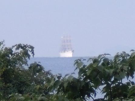 燧灘に 帆船 海王丸  _b0186205_9333167.jpg