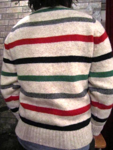 """NORMAN TULLOCH\"" MULTI COLOR STRIPE SWETER ご紹介_f0191324_7535449.jpg"