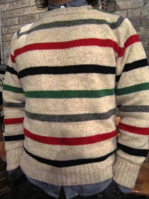 """NORMAN TULLOCH\"" MULTI COLOR STRIPE SWETER ご紹介_f0191324_7535616.jpg"