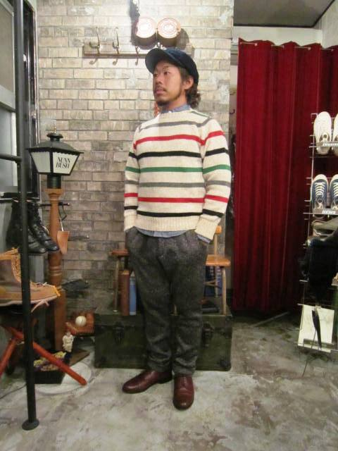 """NORMAN TULLOCH\"" MULTI COLOR STRIPE SWETER ご紹介_f0191324_7541585.jpg"