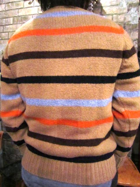 """NORMAN TULLOCH\"" MULTI COLOR STRIPE SWETER ご紹介_f0191324_7544742.jpg"