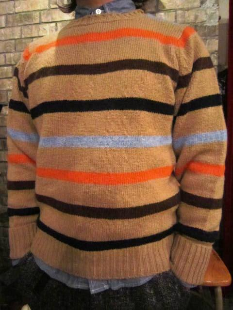 """NORMAN TULLOCH\"" MULTI COLOR STRIPE SWETER ご紹介_f0191324_7544979.jpg"