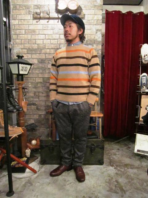 """NORMAN TULLOCH\"" MULTI COLOR STRIPE SWETER ご紹介_f0191324_75546.jpg"