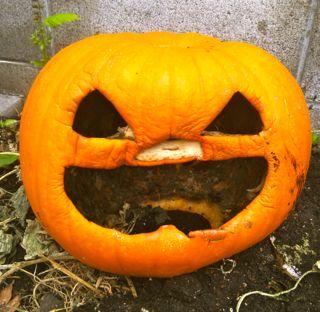 Halloweenでしたが...カボチャのマフィンとジャック・オ・ランタンの..._d0156844_23161149.jpg