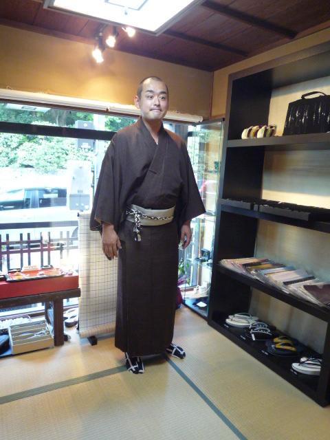 きもの文化祭・浅見さんの着姿と簡単角帯。_f0181251_1747677.jpg