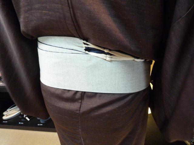 きもの文化祭・浅見さんの着姿と簡単角帯。_f0181251_17485938.jpg