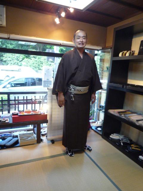 きもの文化祭・浅見さんの着姿と簡単角帯。_f0181251_17504454.jpg