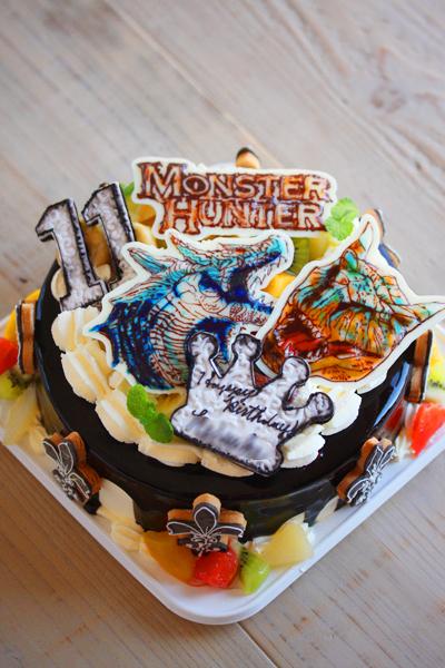 ハロウィンに♡モンスターハンターのお誕生日ケーキ_f0149855_20593437.jpg
