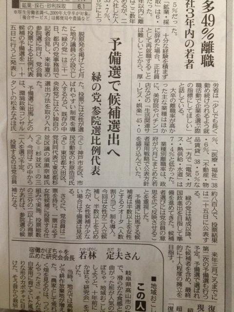 【緑の党参院選第一次予備選投票スタート】_e0094315_1119080.jpg