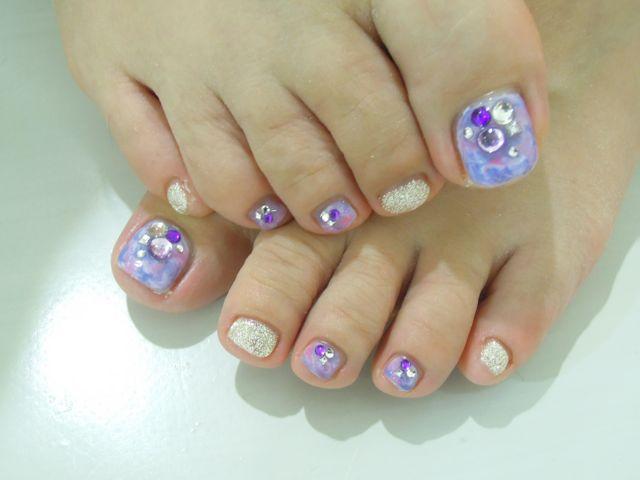 Purple Foot Nail_a0239065_19343491.jpg