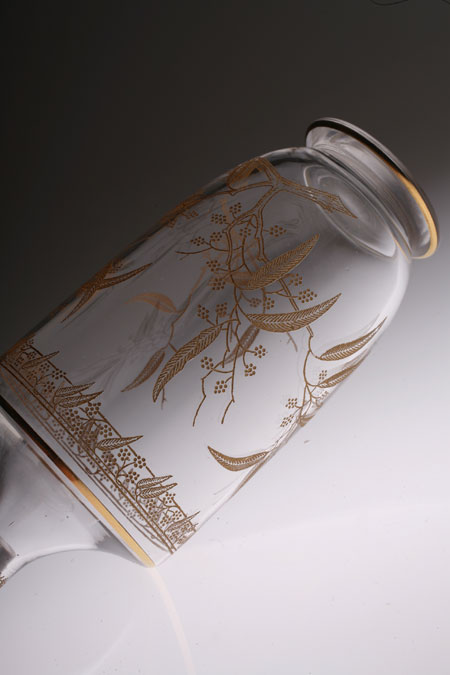 "Baccarat ""MIMOSA\"" Etching&Gold Decanter_c0108595_1482444.jpg"