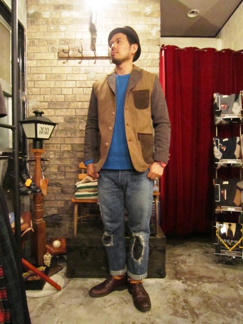 "AmanjaKania ""Old Farmer Jacket\"" ご紹介_f0191324_9563375.jpg"