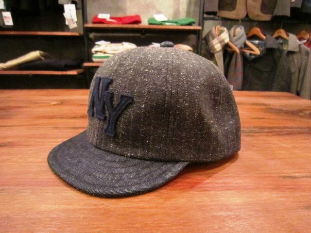 "Jackman \""Nep Herringbone Baseball Cap\"" ご紹介_f0191324_9385996.jpg"
