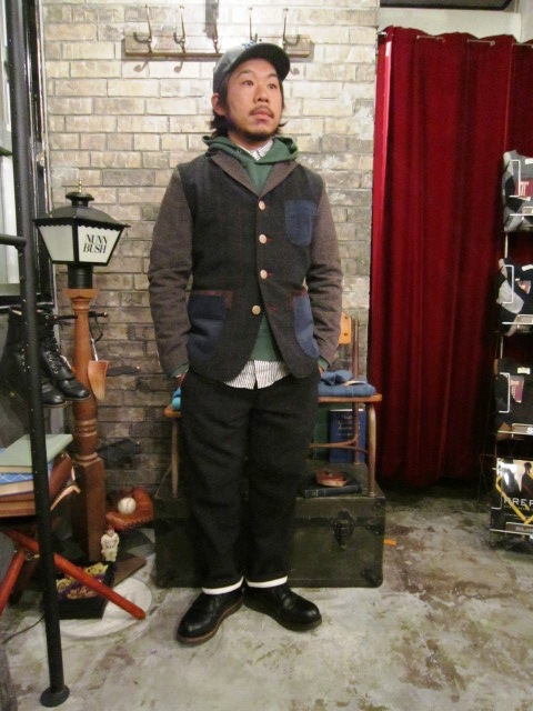 "AmanjaKania \""Old Farmer Pants\"" Set-Up Style ご紹介_f0191324_9472328.jpg"