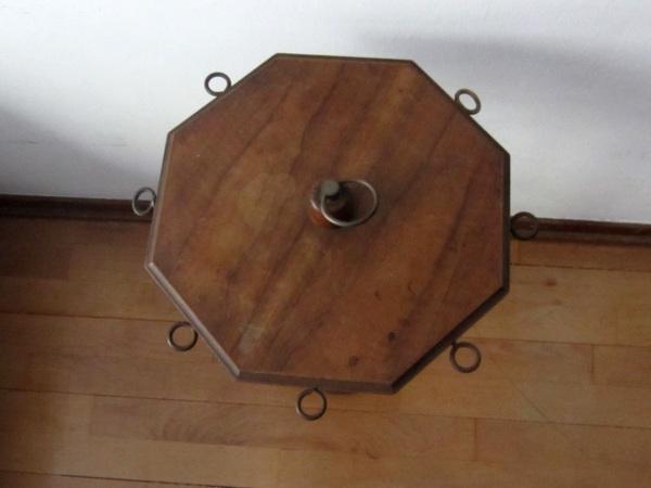 木製六角小テーブル   半額      _f0112550_201577.jpg