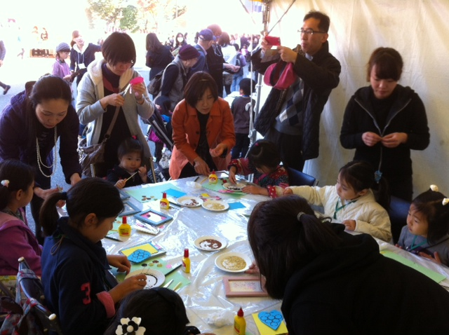 雑穀で食べ物アートを作ろう!@NHK東京・渋谷 大盛況でした!_c0220172_16142584.jpg