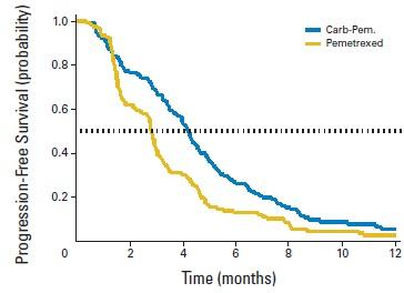 進行非小細胞肺癌におけるセカンドライン治療で、カルボプラチンのアリムタへの上乗せ効果認められず_e0156318_11192648.jpg