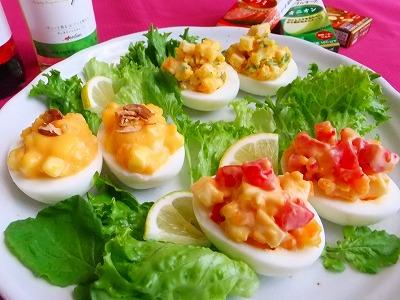 3種のチーズと卵のカナッペ   [レシピブログ]_e0175443_1733648.jpg