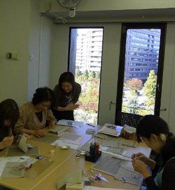 刺繍のカフェマット作り*レッスン_f0224568_203816.jpg