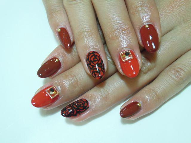 Red Rose Nail_a0239065_19452318.jpg