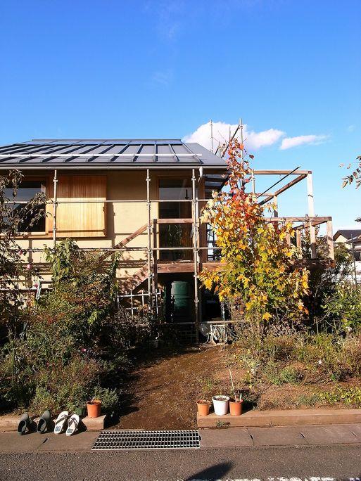 Nさんのいえ(2008) 外部木部メンテナンス塗装工事中 2012/11/8_a0039934_17514367.jpg