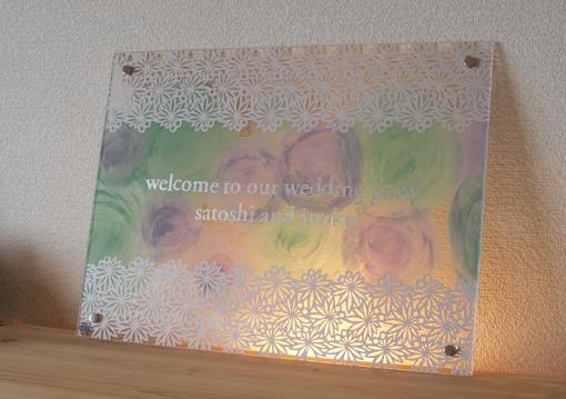 結婚式とウェルカムボード(と最近のこと)_d0051613_223345.jpg