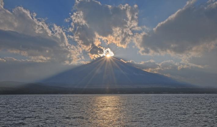 山中湖ママの森ダイヤモンド富士_a0150260_16352617.jpg