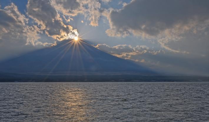 山中湖ママの森ダイヤモンド富士_a0150260_1636057.jpg