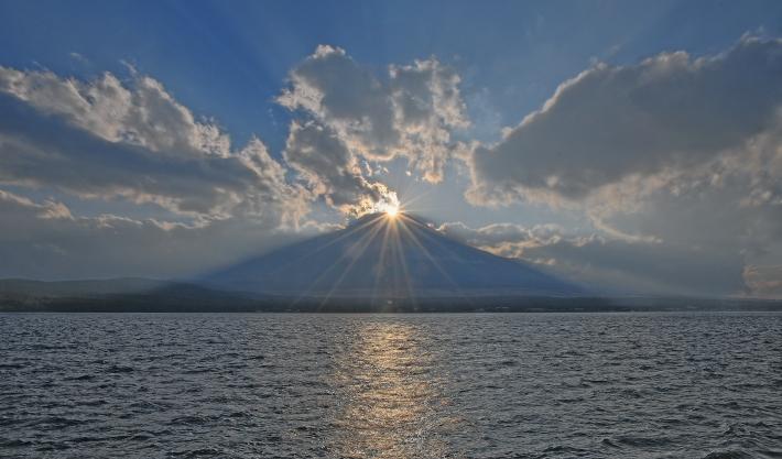 山中湖ママの森ダイヤモンド富士_a0150260_16362487.jpg