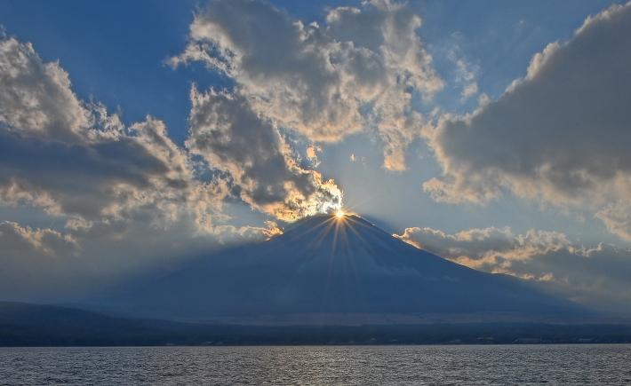 山中湖ママの森ダイヤモンド富士_a0150260_16365441.jpg