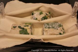 パン教室で「ほうれん草とチーズのリュスティック」!_a0165538_8473636.jpg