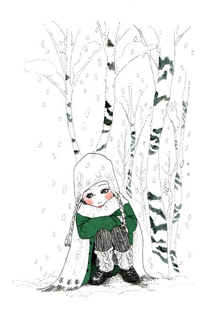 A great winter comes. <つれづれイラストレーション>_f0228652_22143871.jpg