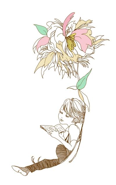 愛書家の少年 <つれづれイラストレーション>_f0228652_2294960.jpg