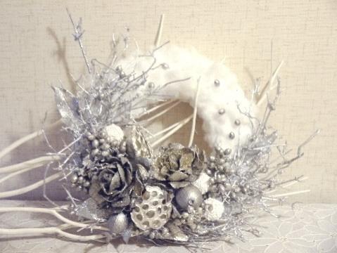満天の星空 クリスマスリース_e0086864_003285.jpg