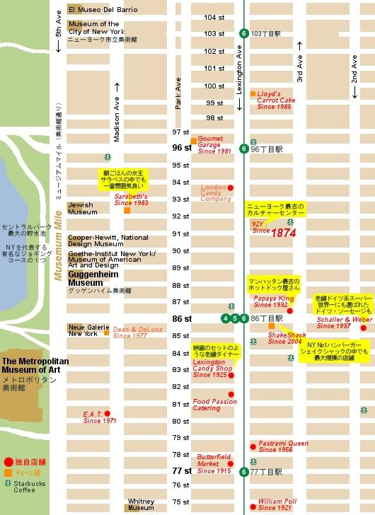 ニューヨーク地図特集:アッパーイーストサイドの老舗の名店マップ_b0007805_13322350.jpg